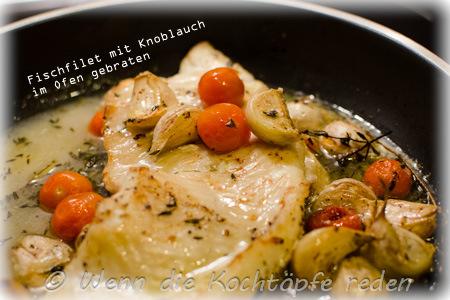 Fischfilet-Weißwein-Knoblauch-Cherrytomaten