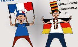 Französische Fans gegen Deutsche Fans : Wer gewinnt?