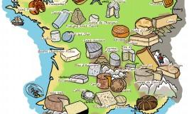 Käsekarte Frankreichs: Entdecke einige von unseren Spezialitäten