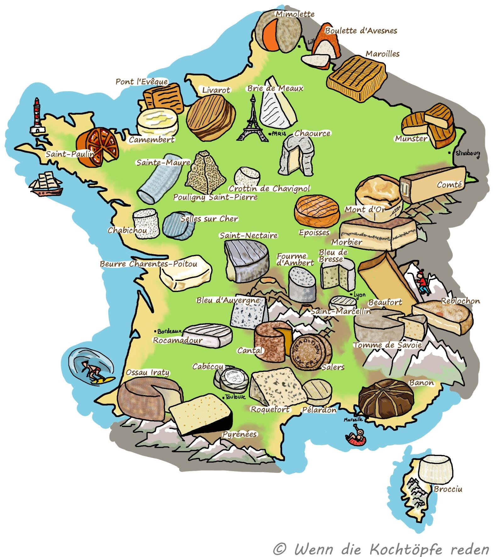 Kaese-Karte-Frankreich