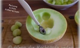 Melone schön zubereiten