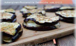 Grillen mal anders! Kleine Auberginen-Mozzarella-Sandwichs