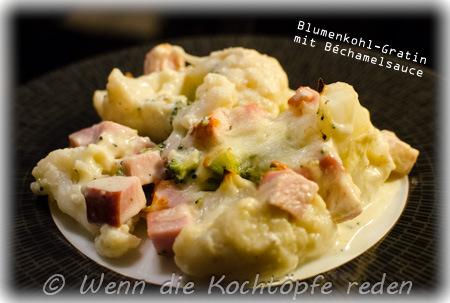 blumenkohl-brokkoli-schinken-bechamel-gratin