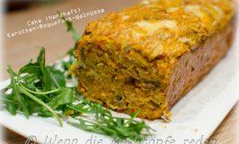 Sonniger Cake mit Karotten, Roquefort und Walnüssen für den kalten Winter