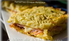 Croque-Monsieur mit Kartoffel statt Toastbrot