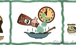 Französische Redewendungen rund um's Essen: Böse!