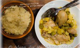 Winterliche Hähnchen-Tajine mit Pastinaken, grünen Oliven und eingelegten Zitronen