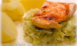 Lauch-Fondue :  hervorragende Beilage zu Fisch