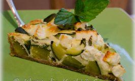 Quiche Zucchini-Feta mit Minze für eine frische Note