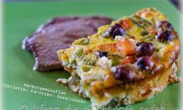 Gemüseflan mit Herbst-Farben : Sellerie, Karotten, Haselnüsse