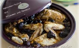 Hähnchen-Tajine mit Pflaumen und Mandeln, um die Gäste zu verblüffen