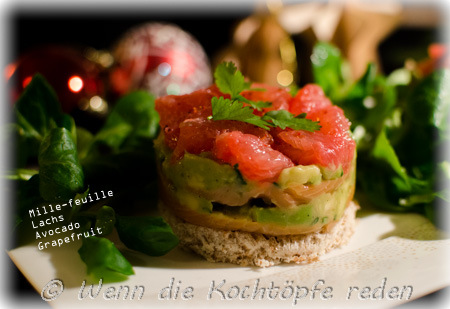 stressfreies weihnachtsmen mille feuille avocado lachs und grapefruit wenn die kocht pfe reden. Black Bedroom Furniture Sets. Home Design Ideas